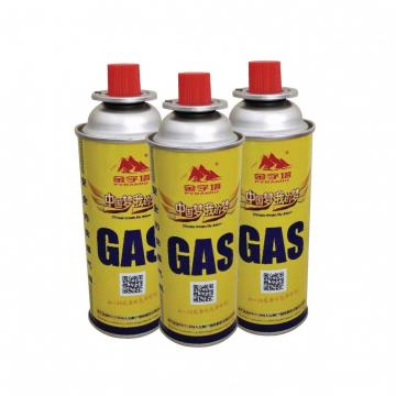 Professional camping butane fuel can gas for portable gas stove 227g