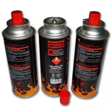 butane gas cartridge aerosol can with Valve and Cap