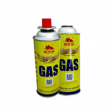 BBQ Fuel Cartridge 227g Round Shape Portable butane gas cartridge and butane gas canister