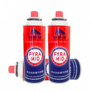 Empty prime butane gas refill for portable stove and butane canister
