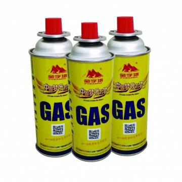 220g~250g Butane Gas Screw type butane gas canister in various sizes for camping gas stove