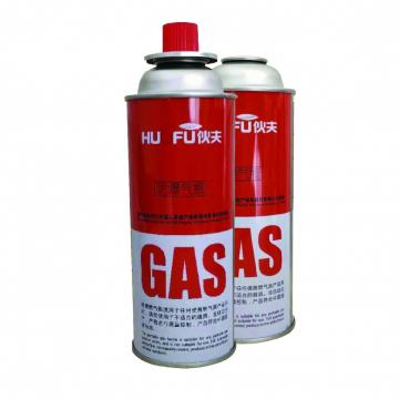 propane / butane gas canister 410ml 230g for barbecue in the wild