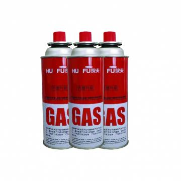 190g 220g 250g Screw type butane gas canister in various sizes for camping gas stove